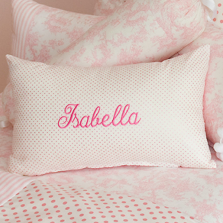 Embroidered Name Cushions